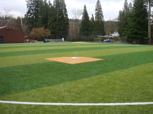 View from behind second base