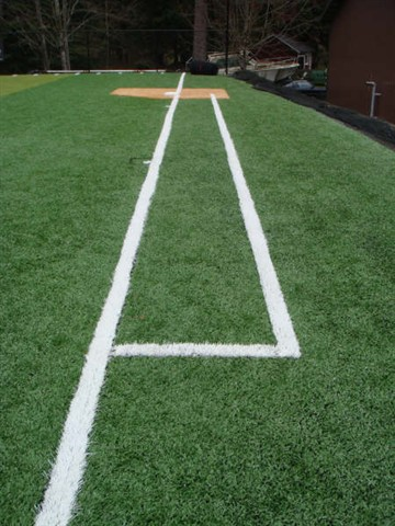 View from first base foul line