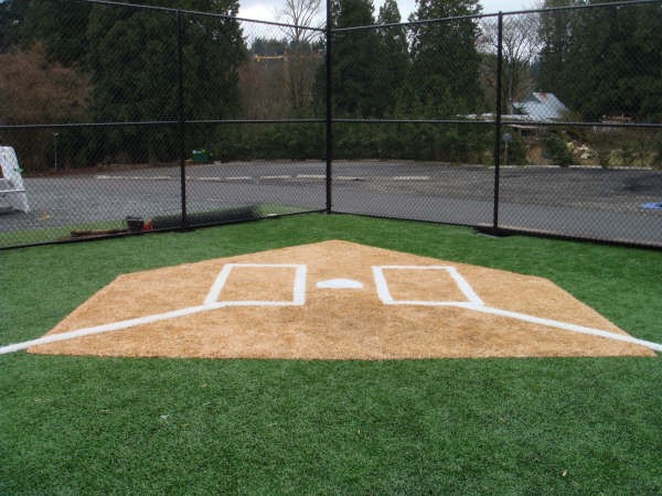 View from home plate and batters box