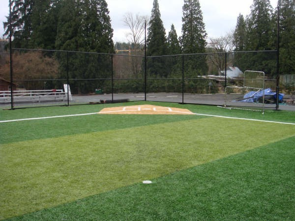 View from pitching mound to home plate
